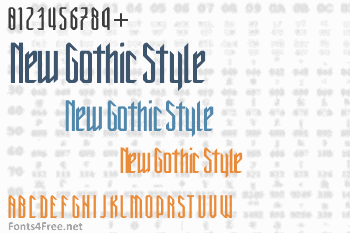 New Gothic Style Font