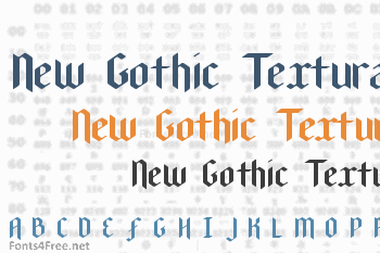 New Gothic Textura Font