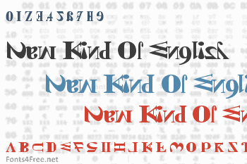 New Kind Of English Font
