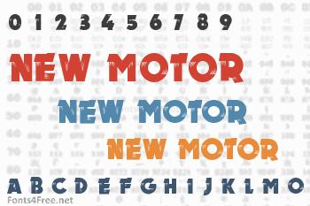 New Motor Font