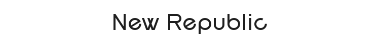 New Republic Font Preview