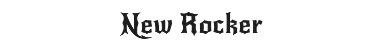 New Rocker Font Preview