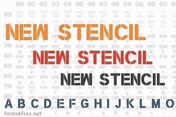 New Stencil Font