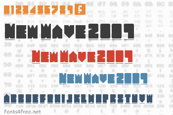 New Wave 2009 Font