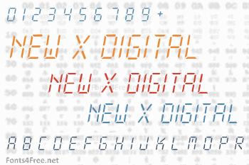 New X Digital Font