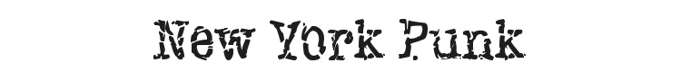 New York Punk Font Preview