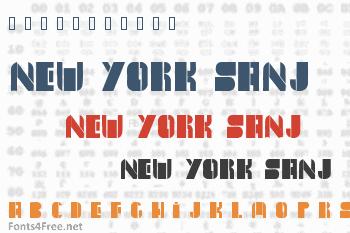 New York Sanj Font