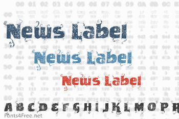 News Label Font