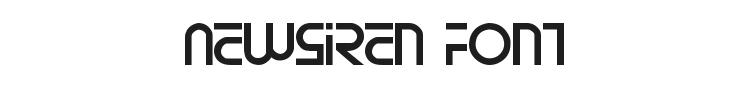 Newsiren Font Preview