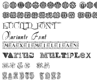 Fancy Initials Fonts Download - Top 40 | Fonts4Free