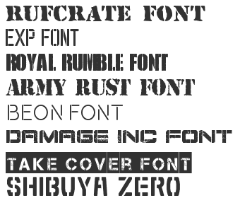 Stencil Army Fonts Download - Top 40 | Fonts4Free