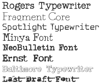 Typewriter Fonts Download - Top 40 | Fonts4Free