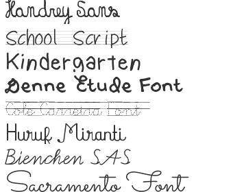 School Fonts Download - Top 40 | Fonts4Free