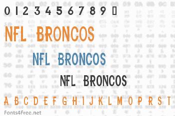 NFL Broncos Font