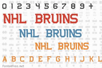 NHL Bruins Font