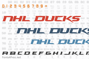 NHL Ducks Font