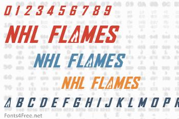 NHL Flames Font