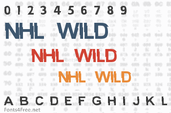 NHL Wild Font
