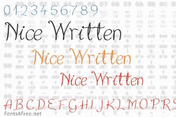 Nice Written Font