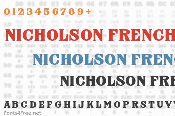 Nicholson French Font