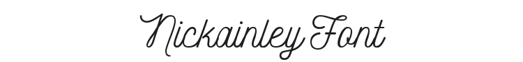 Nickainley Font Preview