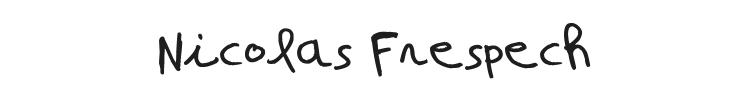 Nicolas Frespech Font Preview