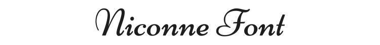 Niconne Font Preview