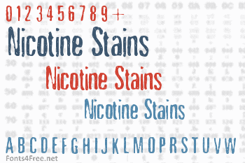 Nicotine Stains Font