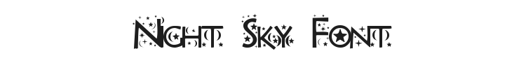 Night Sky Font Preview