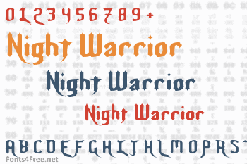 Night Warrior Font