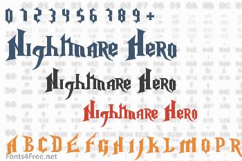 Nightmare Hero Font