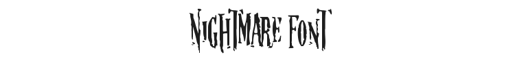 Nightmare Font Preview