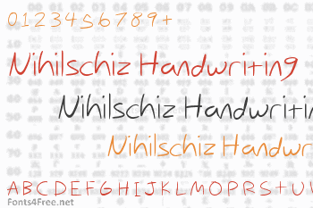 Nihilschiz Handwriting Font