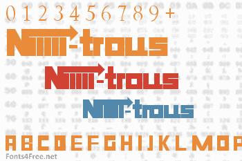 Niiiii-trous Font