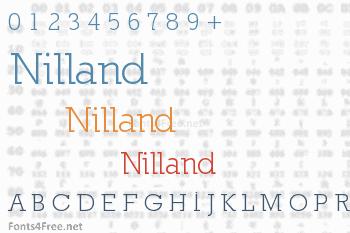 Nilland Font