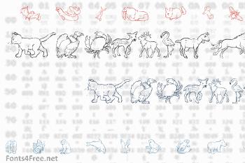 Ninas Animals Font