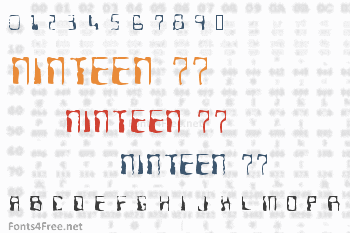 Ninteen 77 Font