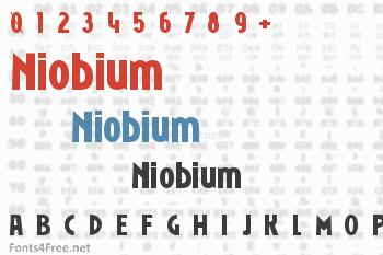 Niobium Font