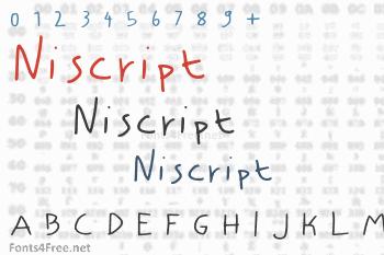Niscript Font