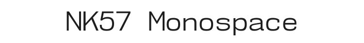 NK57 Monospace Font Preview