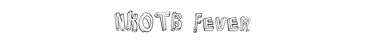 NKOTB Fever Font Preview