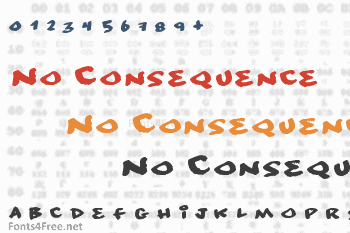 No Consequence Font