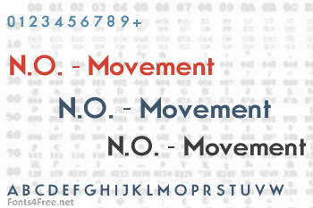 N.O. - Movement Font