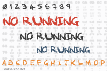 No Running In The Halls Font