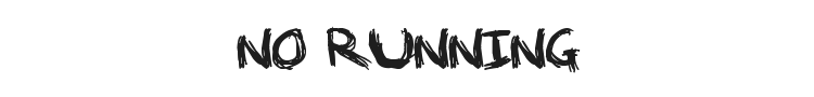 No Running In The Halls Font Preview