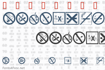 No Smoking Font