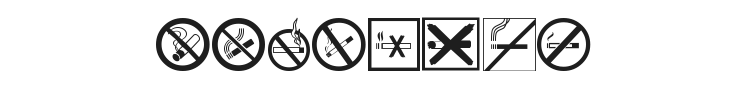 No Smoking Font Preview