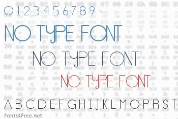 No Type Font