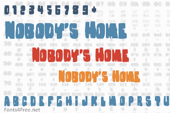 Nobody's Home Font