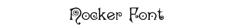 Nocker Font Preview
